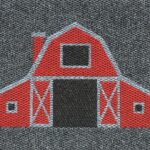 BARN - red on charcoal