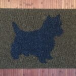 CAIRN TERRIER-blue on brown