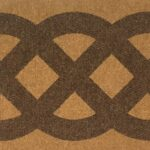 CELTIC KNOT - brown on tan