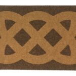CELTIC KNOT - tan on brown