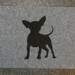 CHIHUAHUA FRONT-black on grey