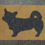 CORGI CARDIGAN-charcoal on tan