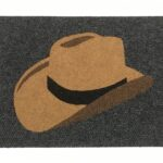 COWBOY HAT - tan on charcoal