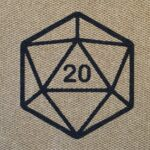 D20 - black on tan