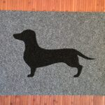 DACHSHUND-black on grey