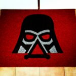 DARTH VADER - black on red