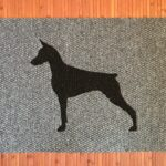 DOBERMAN-black on grey