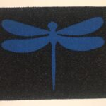 DRAGONFLY-LARGE-blue on charcoal