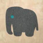 ELEPHANT-RAW CUTOUT-grey w small turquoise eye (2)