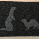 FERRETS-grey on charcoal