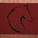 HORSE HEAD CLASSIC-black on red