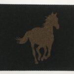 HORSE RUNNING-brown on black