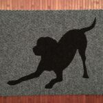 LAB CROSS BOWING-black on grey