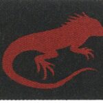 LIZARD-red on black