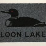 LOON w LOON LAKE-black on grey