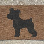 MINI SCHNAUZER-black on brown