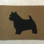 NORWICH TERRIER-black on tan