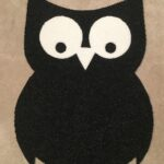 OWL-RAW CUTOUT-black w white eyes