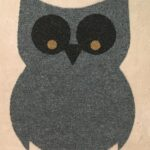 OWL-RAW CUTOUT-grey w black and tan eyes