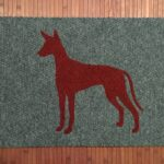 PHARAOH HOUND-red on grey