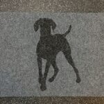 POINTER or VIZSLA-charcoal on grey