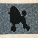 POODLE SHOWCUT-black on grey