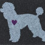 POODLE-grey on black w purple heart