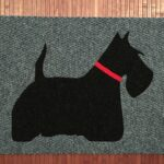 SCOTTIE 1- black on grey w red collar