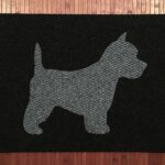 WESTIE-grey on black