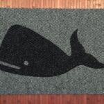 WHALE-blue on grey