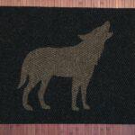WOLF-brown on black
